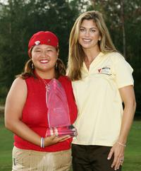 Christina Kim and Kathy Ireland at the Mitchell Company LPGA Tournament of Champions.