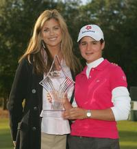 Kathy Ireland and Lorena Ochoa at the Mitchell Company LPGA Tournament of Champions.