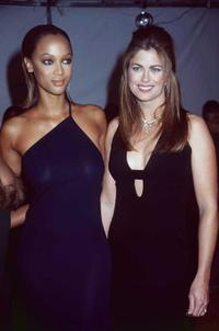 Tyra Banks and Kathy Ireland at the 29th NAACP awards.
