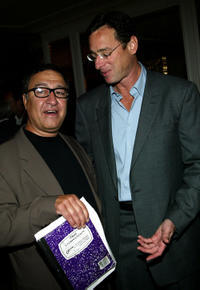 Dom Irrera and Bob Saget at the Third Annual Tom Arnold Celebrity Roast in California.