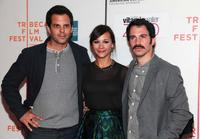 Ivan Martin, Rashida Jones and Chris Messina at the premiere of