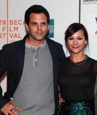 Ivan Martin and Rashida Jones at the premiere of