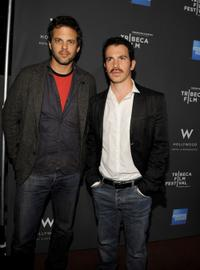 Ivan Martin and Chris Messina at the 2010 Tribeca Film Festival program launch of Tribeca Film New Distribution.