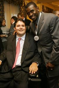 Marc Buoniconti and Michael Irvin at the 21st Annual Great Sports Legends Dinner.