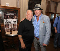 Joe Rigano and Mickey Rourke at the book release party for
