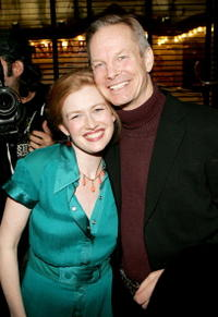 Mireille Enos and Bill Irwin at the opening night of