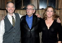 Bill Irwin, Edward Albee and Kathleen Turner at the opening night of