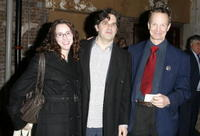 Amy Barrett, Jonathan Lethem and Bill Irwin at the performance of Shakespeare's Macbeth staring Patrick Stewart to benefit Brooklyn Academy of Music.