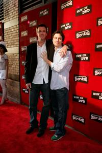 Neil Flynn and Zach Braff at the DVD Launch Party For First Season of Scrubs.