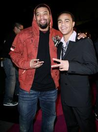 DeRay Davis and Brennan Gademans at the premiere of