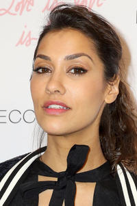 Janina Gavankar at Rebecca Minkoff's Spring 2017 fashion show in Los Angeles.