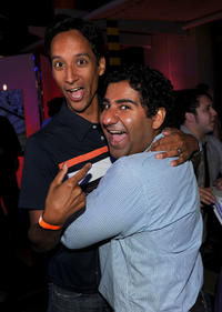 Danny Pudi and Parvesh Cheena at the NBC rooftop party during the Comic-Con 2010.