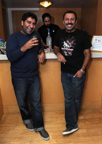 Parvesh Cheena and Rizwan Manji at the 2011 DPA Golden Globes Gift Suite in California.