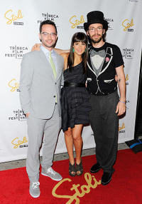 Nick Kroll, Lindsay Sloane and Martin Starr at the New York premiere of