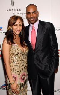 Nicole Ari Parker and Boris Kodjoe at the Ebony Pre-Oscar celebration.