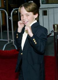 Connor Price at the premiere of