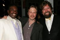 Keith David, Austin Lysy and Director Oskar Eustis at the after party of the opening of