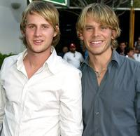 Derek Richardson and Eric Christian Olsen at the premiere of