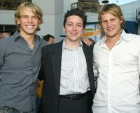 Eric Christian Olsen, Oren Koules and Derek Richardson at the premiere of