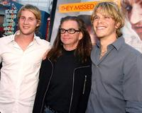 Derek Richardson, Troy Miller and Eric Christian Olsen at the premiere of