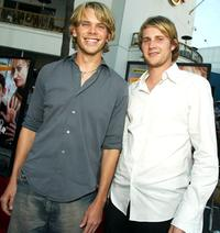 Eric Christian Olsen and Derek Richardson at the premiere of