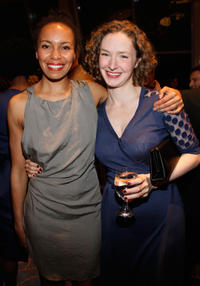Eisa Davis and Amanda Quaid at the after party of 28th Annual Lucille Lortel Awards.