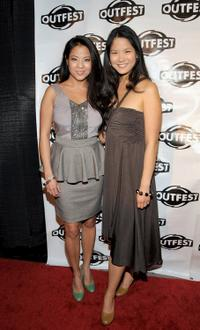 Karin Anna Cheung and Lynn Chen at the Outfest Fusion Achievement Awards.