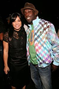 Radio DJ Egypt and Michael Kenneth Williams at the Rocsi's birthday party.