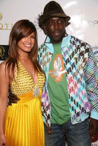 Rocsi and Michael Kenneth Williams at the Rocsi's birthday party.