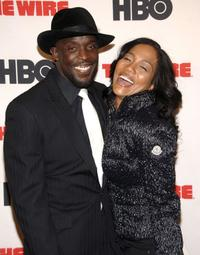 Michael Kenneth Williams and Sonja Sohn at the premiere of