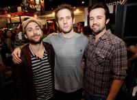 Charlie Day, Glenn Howerton and Rob McElhenney at the Comic Con 2008.