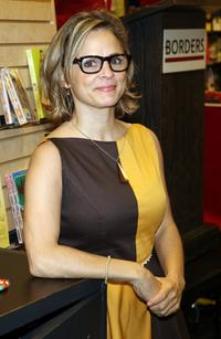 Amy Sedaris at the signing copies of