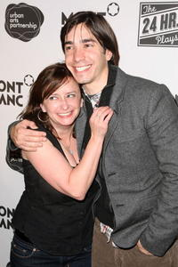 Rachel Dratch and Justin Long at the after party for opening night of the 8th Annual 24 Hour Plays on Broadway presented by Montblanc.