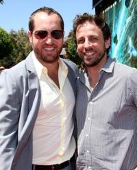 Beau Flynn and Seth Meyers at the premiere of