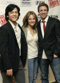 John Cho, Jessalyn Gilsig and Seth Meyers at the premiere of