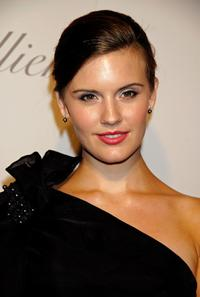 Maggie Grace at the Monique Lhuillier Salon opening.