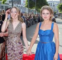 Saoirse Ronan and Rose McIver at the premiere of