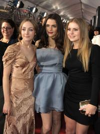 Saoirse Ronan, Rachel Weisz and Rose McIver at the premiere of