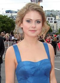Rose McIver at the premiere of
