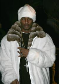 Cam'ron at the Jennifer Lopez Fall 2005 show.