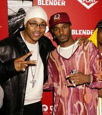 LL Cool J and Cam'ron at the Blender/Island Def Jam/Pony 2002 MTV VMA post party.