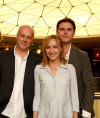 Director Kristian Petri, Sonja Richter and producer Johannes Ahlund at the premiere of