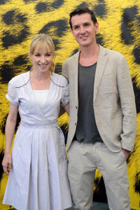 Sonja Richter and Mikkel Norgaard at the photocall of