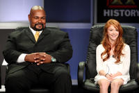 Kevin Michael Richardson and Liliana Mumy at the A&E Network Channel 2008 Summer Television Critics Association Press Tour in California.