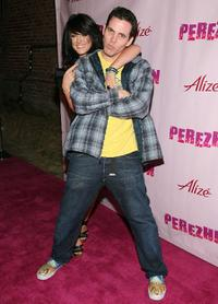 Lacey Schwimmer and Steve-O at the Perez Hilton's