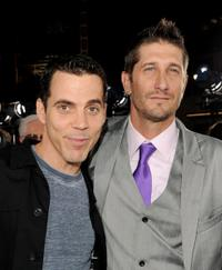 Steve-O and Trip Taylor at the premiere of