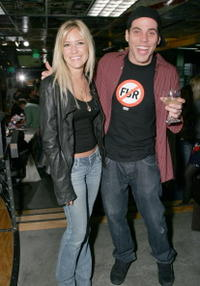Kristin Cavallari and Steve-O at the Preview Party of the new Speedy Collection.