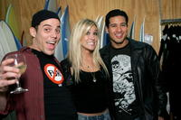 Steve-O, Kristin Cavallari and Mario Lopez at the Preview Party of the new Speedy Collection.