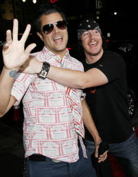 Johnny Knoxville and Ehren McGhehey at the premiere of