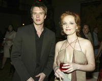 Luke Mably and Miranda Richardson at the after party of